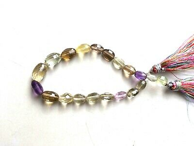 """1 Strands Natural Multi Stone Oval Faceted 5x7-8x12mm Gemstone Beads 7.5""""Inch"""