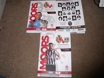 2018/19 Spennymoor Town National League North Home Programme Collection X 3