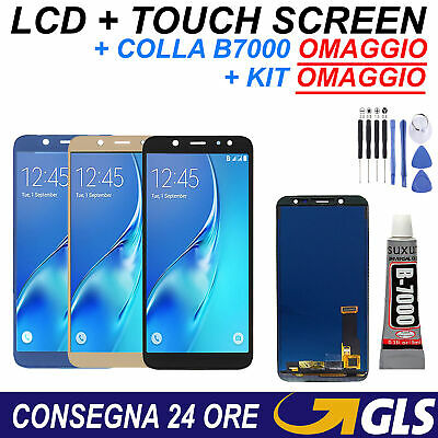 Display LCD + Touch Screen Samsung Galaxy A6 2018 A600 SM-A600F DS Schermo Vetro