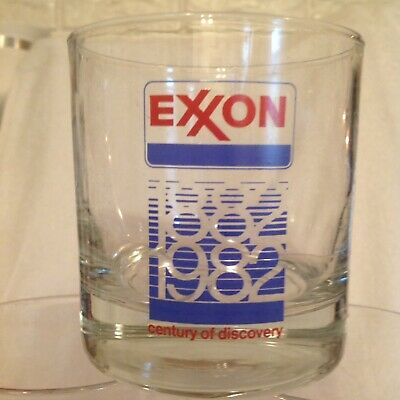 EXXON Century Of Discovery 1982 Highball Glasses - Set Of 6