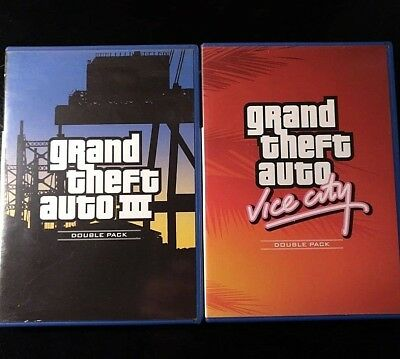 GRAND THEFT AUTO GTA III + VICE CITY DOUBLE PACK  PS2 PlayStation 2