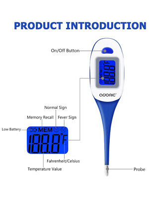 Thermometers, Adoric Digital Thermometers Armpit and Oral Thermometer for Baby,