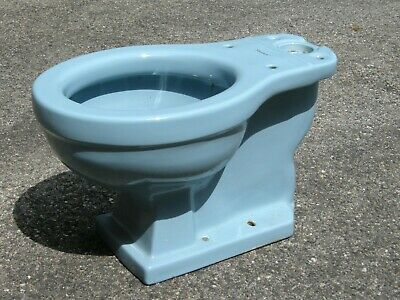 Mid Century American Standard Round Toilet Bowl Only Regency Blue