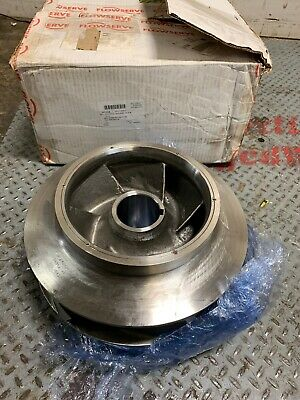 NEW Flowserve Sturm Machine Co 0056-19321-45 Stainless Pump Impeller 15""