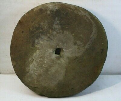 Antique Mill Stone Grinding Wheel Garden Stepping Architectural 17in