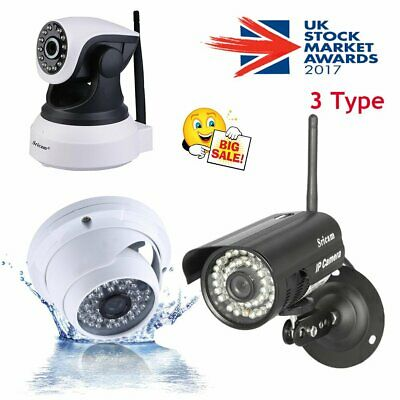 HD Wireless Dome IP Camera Wifi CCTV Network Webcam IR-Cut Security Outdoor DT
