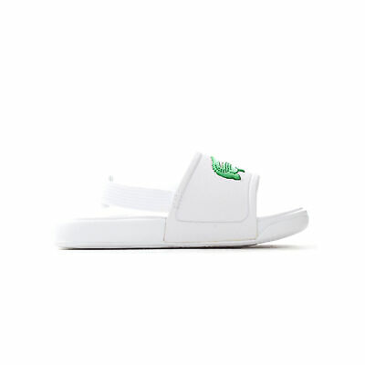 af34066f21 LACOSTE L.30 INFANT Kids Summer Flip Flop Slide White/Green - EUR 26 ...