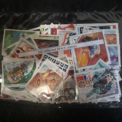 100 different SPACE stamps