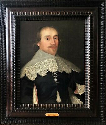 Very Fine Flemish Old Master Oil On Canvas Portrait Painting Of Gentleman C1630