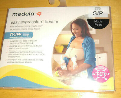 C-1 Medela Easy Expression Bustier Hands-Free Double Breast Pumping Nude Small