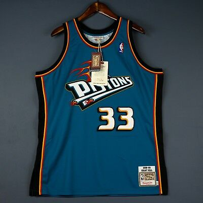 37dadc02d7a 100% Authentic Grant Hill Mitchell Ness Detroit Pistons Jersey Size Mens 36  S