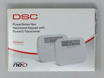 Dsc Security Hs2Lcdrfp9Eng Power Series Neo Keypad W/Powerg Transceiver Alarm