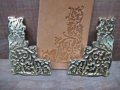 Brass GRAPE VINE Leather Bookbinding letterpress Stamp embossing die SET ST7