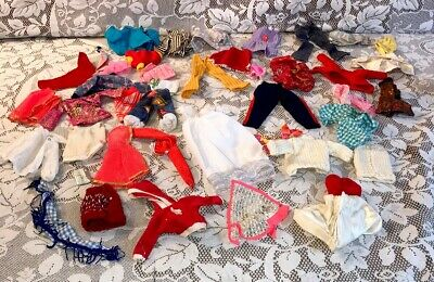 Vintage TLC Barbie Francie Midge Size Lot Clone & Handmade Hand Knit Clothes 70s