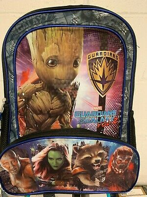 """New Marvel Guardians Of The Galaxy 16"""" Full Size Backpack"""