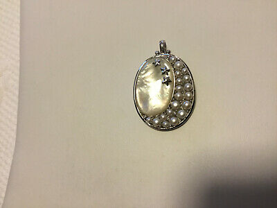 61cd66be7 Honora White Pearl and Sterling Silver Enhancer Pendant Mother of Pearl 925