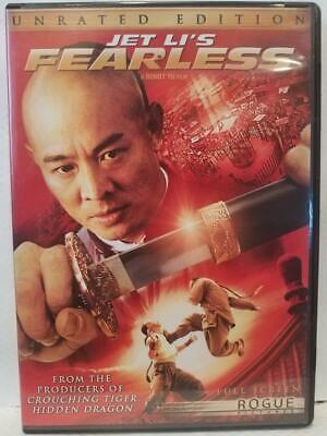 Fearless Jet Li (DVD, 2006, 2-Disc, Unrated & Theatrical Editions Full Frame)