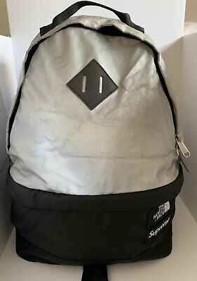 db9c7719b4 SUPREME THE NORTH Face SS13 3M Daypack Backpack Red Silver RARE Free ...