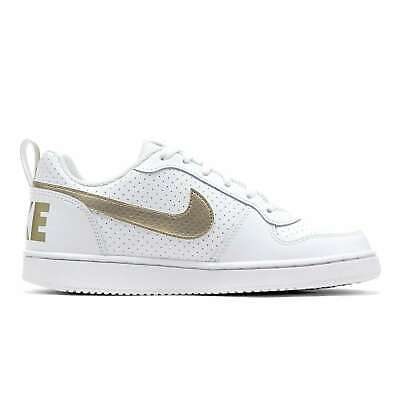 cheap for discount fe549 4a38c Nike Court Borough Faible GS Blanc Sneakers Bas Chaussures pour Femmes/Fille
