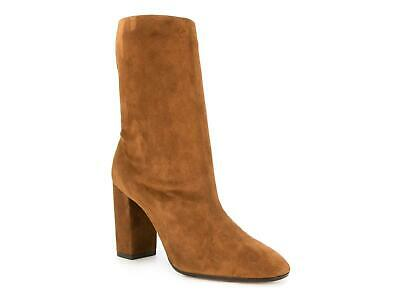 Aquazzura Women's mid-calf boots in light brown suede leather