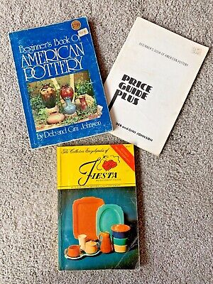 Lot of 2 Collectors Encyclopedia of Fiesta & Beginners Book of American Pottery
