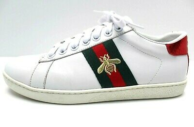 2a5d2bd597a WOMENS GUCCI BEE Embroidered Ace Sneakers 36 Euro   7 Usa -  420.00 ...
