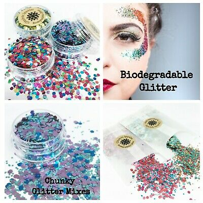 Biodegradable Glitter Cosmetic Eco Chunky mix Festival Party make up Body