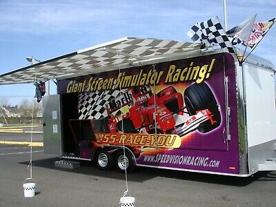 Mobile Race Car Simulator Trailer Business For Sale Including FB and Website
