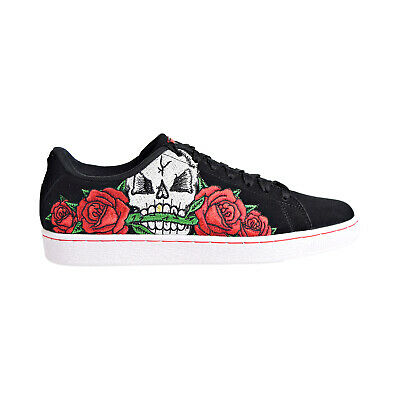 Puma Suede Classic Skull Men's Shoes Black/Risk Red/Amazon Green 368198-01