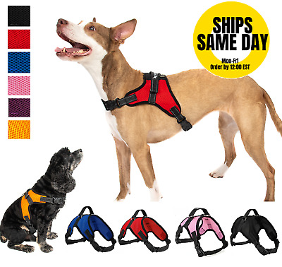 Pet Control Harness for Dog Soft Mesh Walk Large Small Medium XXL Pink Red Black