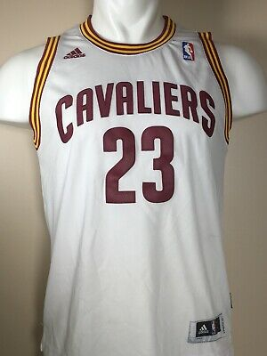 ee389e94a05 Cleveland Cavaliers Kids Youth LeBron James Official NBA White Jersey -  Large