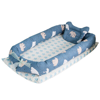Baby Lounger Portable Infant Crib for Bed Co-Sleeping Bassinet Cradles M9B7