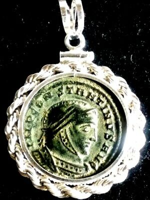 Constantine Great Altar X Authentic Ancient Roman Coin Sterling Pendant Necklace