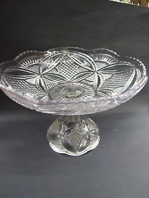 Australian  Large Pressed Glass Compote  Bowl 1920'S