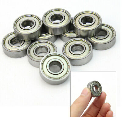 10Pcs 8 x 22 x 7mm Sealed Shielded Deep Groove Ball Bearing Skateboard 608z GJY
