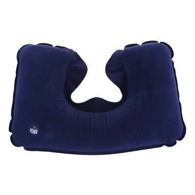 1X(Portable Inflatable Adjustable Travel Pillow with Soft Support Cushion FR8H6)