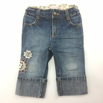 Girls size 2, Old Navy, embroidered jeans with adjustable waist, EUC