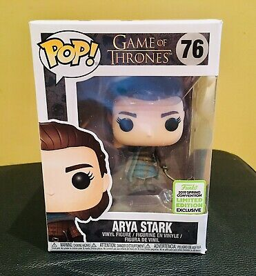 Funko Pop! Game of Thrones Arya Stark #76 2019 ECCC Shared Exclusive Damaged Box
