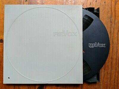 "Revox Reel To Reel Tape With Case 10.5"" Black"