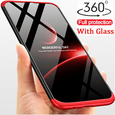 Samsung Galaxy A50 A30 360° Full Body Shockproof Case Cover with Tempered Glass