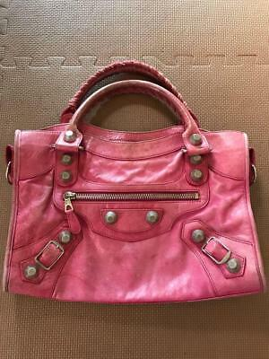 0156742f0b BORSA IN PELLE rosa balenciaga mod. city - EUR 190,00 | PicClick IT