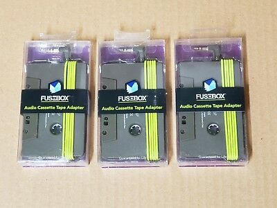 3 New Fusebox Car Truck Aux In Audio Cassette Tape Adapter - Fits 3.5Mm Jack