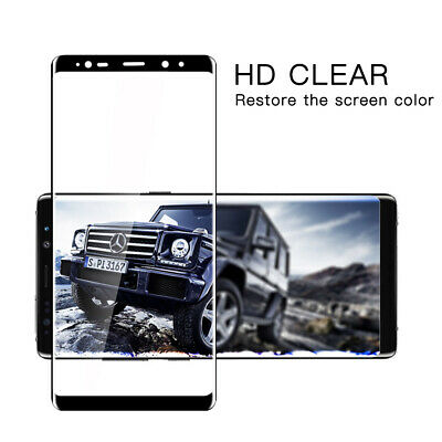 For Samsung S10+ S9 S8 Note 9 8 2X HD Full Cover Tempered Glass Screen Protector