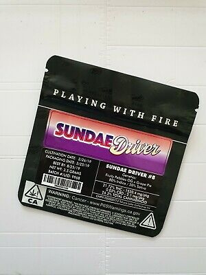 1x Jungle Boys Sundae Driver Mylar Bag (3.5g) Cali Tin