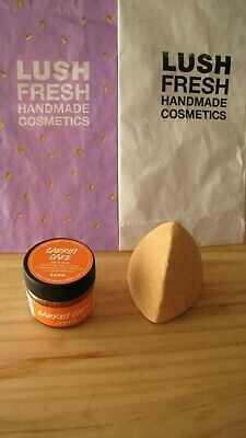 Lush Easter duo: Carrot Cake lip scrub & Beak Street shower bomb - NEW & UNUSED