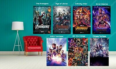 Avengers End Game Infinity War Age of Ultron MCU Marvel Movie Posters Art Print