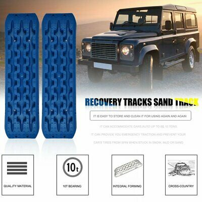 Pair 10T Recovery Tracks 4x4 Off Road 4WD Sand Track Snow Mud Tyre Ladder Blue