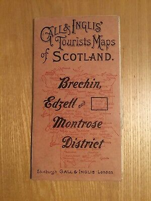 Gall And Inglis Half Inch Tourist Map Of Scotland - Brechin , Edzell & Montrose