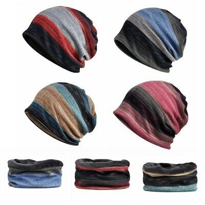 Mens Womens Knitted Cap Winter Warm Oversized Ski Slouch Hat Baggy Beanies Cap
