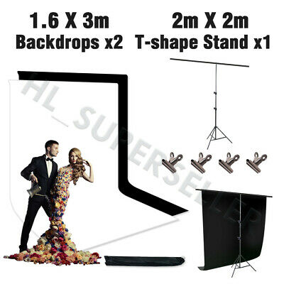 2x2M Heavy Duty Studio Backdrop Stand Kit Photography Video Background Support
